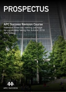 APC SUCCESS Autumn 2018 Prospectus