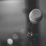 Black And White Photo Of Microphone 2293546